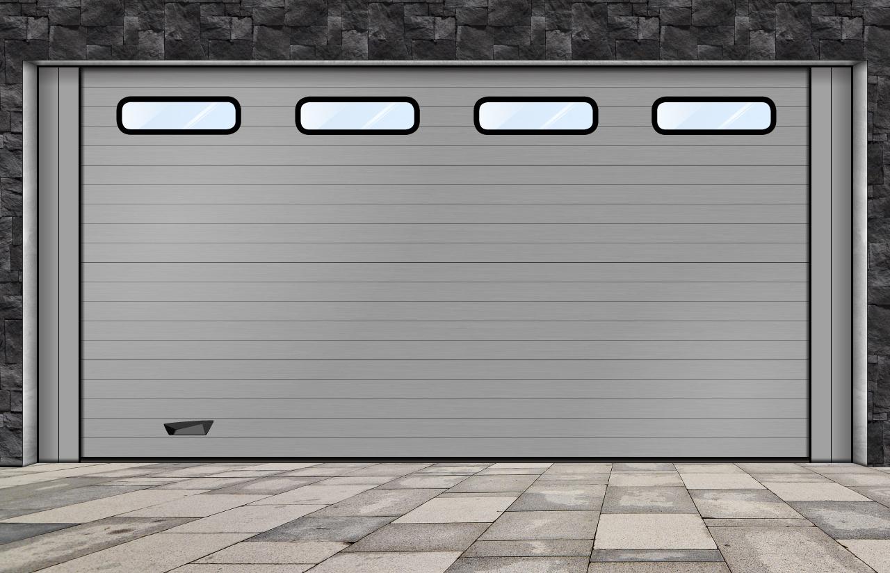 porta seccionada_ com visores industriais pequeno