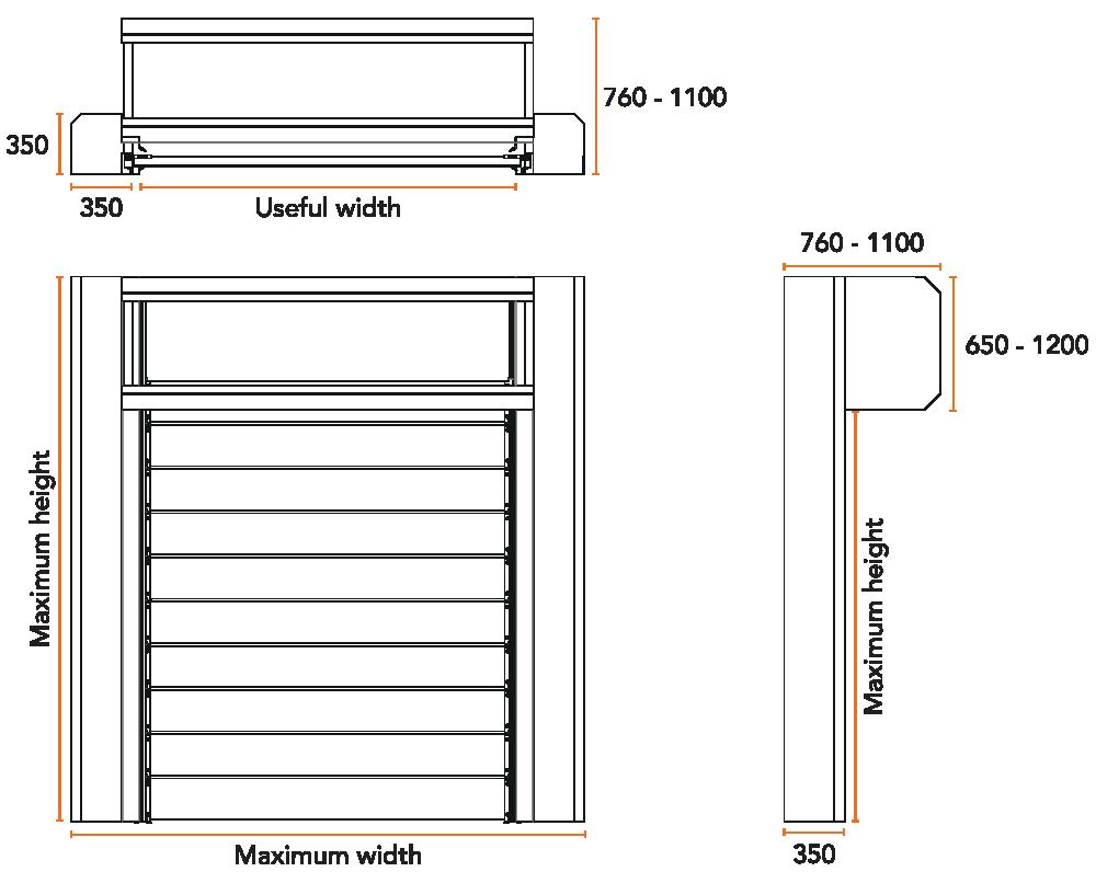 high speed door spiral dimensions