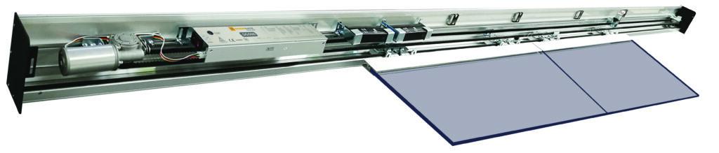mecanismo porta de vidro slim 125