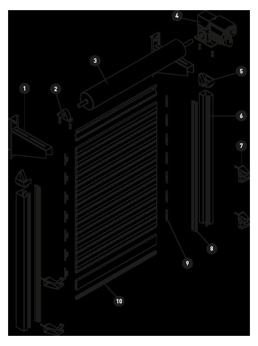 sistema industrial portas de enrolar