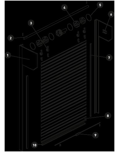 sistema porta de enrolar residencial